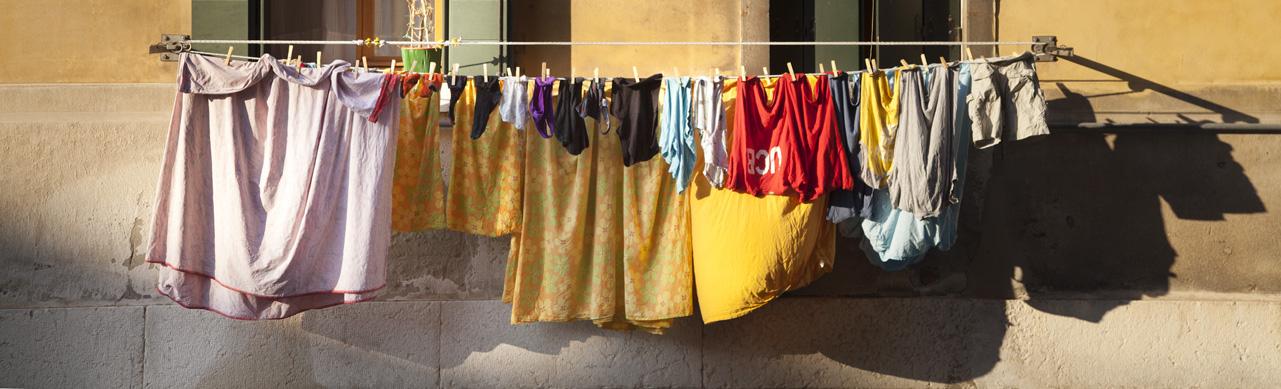 Venice, laundry, window, main characters, photo by Charlie Alice Raya